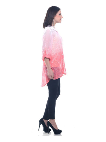 Image of Two toned Georgette shirt