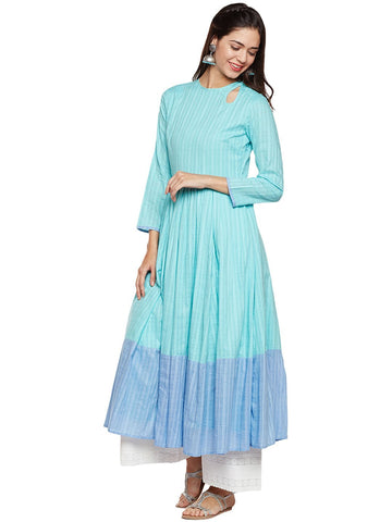 Image of Linen Anarkali