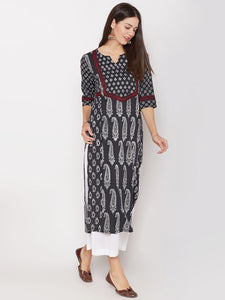 Cotton Kantha Kurta with 2 Prints