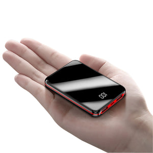 P&T Best Selling Mini power bank 10000mAh portable fast charging powerbank with digital power display