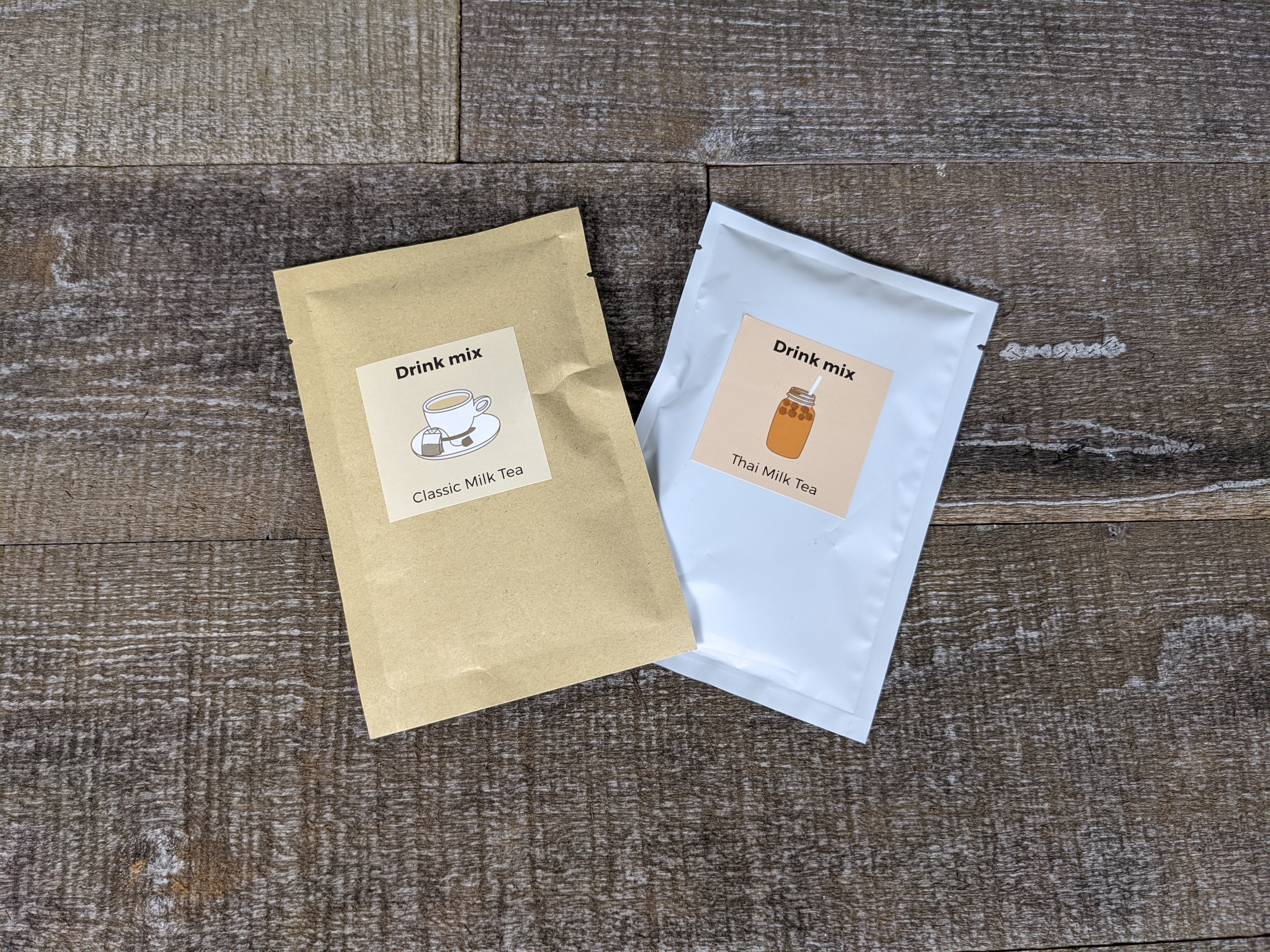 Classic milk tea pkg and thai tea pkg