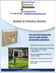Visiontron Bulletin & Directory Boards | Advanced Stanchions
