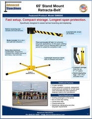 Advanced Stanchions 65' Stand Mount Retracta-Belt by Visiontron