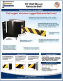 Visiontron 65' Wall Mount Retracta-Belt Flyer | Advanced Stanchions