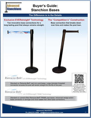 Advanced Stanchions Visiontron Retracta-Belt Base Comparison Flyer
