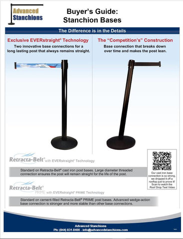 Visiontron Retracta-Belt Base Comparison | Advanced Stanchions