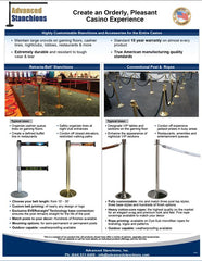 Advanced Stanchions Casino Products Flyer | Casino Retracta-Belts VIP Ropes