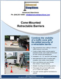 Visiontron Cone-Mounted Retractable Barriers Flyer | Advanced Stanchions