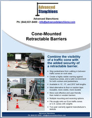 Advanced Stanchions Cone Mounted Retractable Barriers
