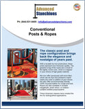 Visiontron Conventional Posts & Ropes Flyer | Advanced Stanchions