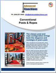 Advanced Stanchions Visiontron Conventional Posts & Ropes Overview