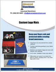 Visiontron Custom Logo Mats | Advanced Stanchions