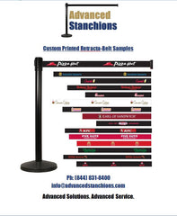 Visiontron Retracta-Belt Custom Printed Belts | Advanced Stanchions