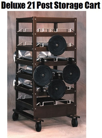 Visiontron Deluxe Post Storage Cart | Advanced Stanchions
