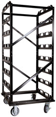 Visiontron Deluxe Storage Cart Empty | Advanced Stanchions