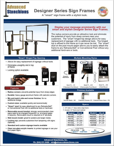 Visiontron Designer Series Sign Frame Flyers | Advanced Stanchions