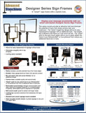 Visiontron Designer Series Sign Frames Flyer | Advanced Stanchions