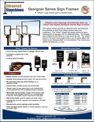 Advanced Stanchions Visiontron Designer Series Frames