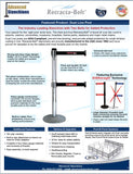 Visiontron Retracta-Belt Dual Line Flyer | Advanced Stanchions