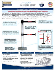 Visiontron Retracta-Belt Dual Line Post Flyer | Advanced Stanchions | ADA Compliant