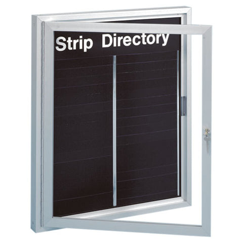 Visiontron Enclosed Engraved Strip Directory Boards | Advanced Stanchions