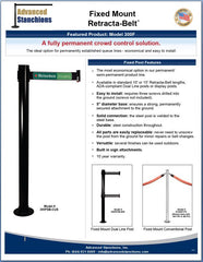 Advanced Stanchions Visiontron Fixed Mount Retracta-Belt