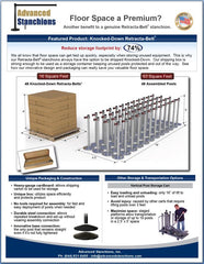 Advanced Stanchions Visiontron Floor Space Saver
