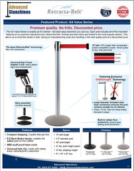 Visiontron G4 Retracta-Belt Premium Value Series | Advanced Stanchions