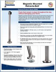 Advanced Stanchions Visiontron Magnetic Mounted Retracta-Belt