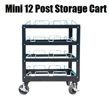 Visiontron Mini Post Storage Cart | Advanced Stanchions