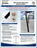 Visiontron Mini Socket Mounted Retracta-Belt Post Flyer | Advanced Stanchions