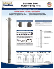 Visiontron Stainless Steel Outdoor Loop Post | Advanced Stanchions