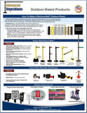 Visiontron Retracta-Belt Outdoor-Rated Products Flyer | Advanced Stanchions