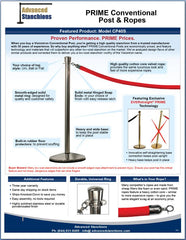 Advanced Stanchions Visiontron PRIME Conventional Posts & Ropes Flyer
