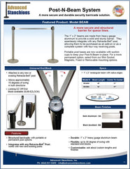 Advanced Stanchions Visiontron Post-N-Beam Systems