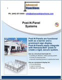 Visiontron Post-N-Panel System Flyer | Advanced Stanchions