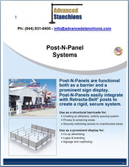 Visiontron Post-N-Panel Systems Flyer | Advanced Stanchions | ADA Compliant
