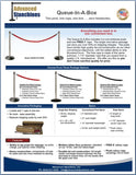 Visiontron Queue-In-A-Box Flyer | Advanced Stanchions