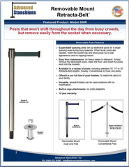 Advanced Stanchions Visiontron Removable Mount Retracta-Belt