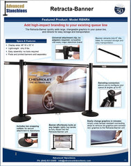 Visiontron Retracta-Banner Brochure | Advanced Stanchions
