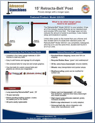 Advanced Stanchions 15' Retracta-Belt Flyer