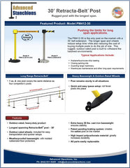 Advanced Stanchions Retracta-Belt 30' Flyer
