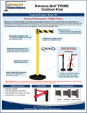 Visiontron Retracta-Belt PRIME Outdoor Post Flyer | Advanced Stanchions