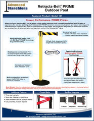 Advanced Stanchions Visiontron Retracta-Belt PRIME Outdoor Post Flyer
