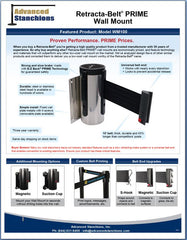 Advanced Stanchions Visiontron Retracta-Belt PRIME Wall Mount