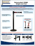Visiontron Retracta-Belt PRIME Single Line Post Flyer | Advanced Stanchions
