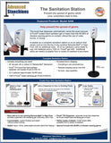 Visiontron Purell Sanitation Station Flyer | Advanced Stanchions