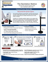 Advanced Stanchions Visiontron Sanitation Station Flyer