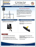 Visiontron 6' Tall Sign Post Flyer | Advanced Stanchions