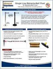 Advanced Stanchions Single Line Retracta-Belt
